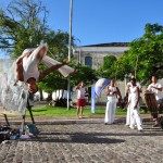 Sigitas Staniunas Performance with Capoeira masters in Itaparica island, Brazil